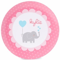 Love Elephant Personalized Kids Plate / Bowl