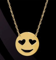 Love Emo Emoji Necklace
