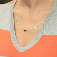 Love Names Custom Cut Necklace - CHOOSE YOUR METAL!