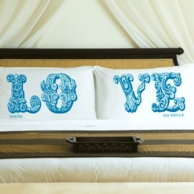 LOVE Personalized Pillow Cases - SET OF 2