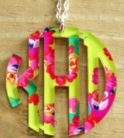 Mary Beth Goodwin Afternoon Tea Print Monogram Necklace