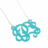 Medium Acrylic Monogram Chain Necklace - CHOOSE YOUR COLOR!
