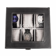 Men's Vegan Leather Personalized Watch Box