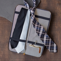 Mens Tie Monogrammed Travel Case