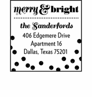 Merry & Bright Personalized Holiday Address Stamper