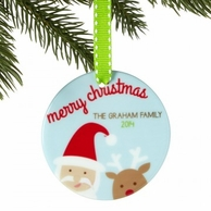 Merry Christmas Personalized Family Ornament