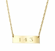 Metal Personalized Engraved Bar Necklace