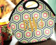METALLIC Monogram Insulated Lunch Tote