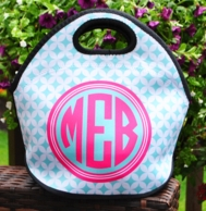 Metro Burst Monogrammed Lunch Tote