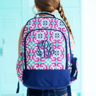 Mia Tile Monogrammed Backpack