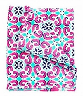 Mia Tile Monogrammed Fleece Blanket