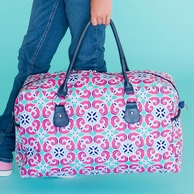 Mia Tile Monogrammed Weekender Travel Bag