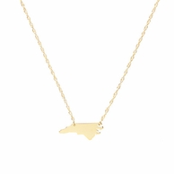 Mini Sterling Silver or Gold State Necklace