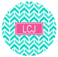 Mint Aztek Monogrammed Coasters - SET OF 4