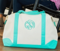 Mint Canvas Sullivan Monogrammed Weekender Bag