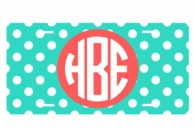 Mint Dots Personalized Car Tag