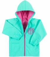 Mint Kids Monogrammed Rain Coat