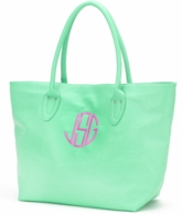 Mint Monogrammed Large Tote Bag