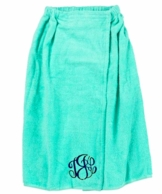 Mint Monogrammed Spa Towel Wrap