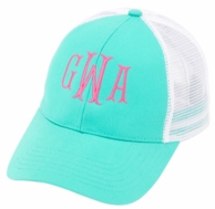 Mint Monogrammed Trucker Hat