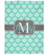 Mod Damask Personalized Plush Throw Blanket