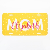 Mom Name Personalized Car Tag