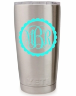 Monogram Decals For Your Yeti Rambler Tumbler