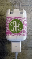 Monogram LARGE Charger Plug Wraps - SET OF 2