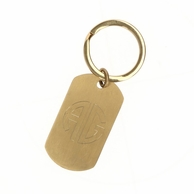 Monogram Rectangle Gold or Silver Key Chain