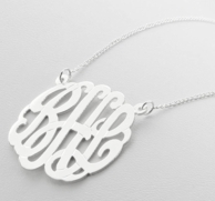 Monogram Custom Cut Necklace - CHOOSE YOUR METAL