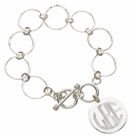 Monogram Toggle Chain Links Bracelet