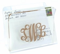 Monogrammed Acrylic Mail / Napkin Holder