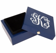 Monogrammed Bauble Jewelry Box