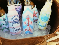 Monogrammed Bottle Koozies