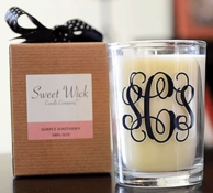 Monogrammed Candles