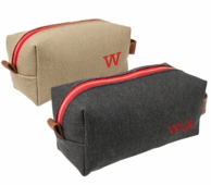 Monogrammed Canvas & Leather Men's Dopp Kit
