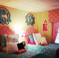 MONOGRAMMED COLLEGE & DORM DECOR