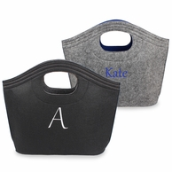 Monogrammed Felt Carry All Tote