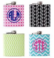 Monogrammed Flask - CHOOSE YOUR DESIGN!