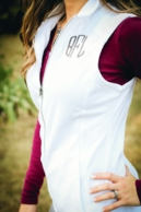 Monogrammed Fleece Vests