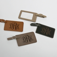 Monogrammed Leatherette Luggage Tag