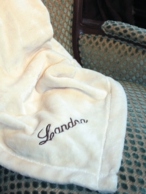 Monogrammed Micro-Fleece Throw Blanket