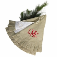 Monogrammed Natural Jute Christmas Tree Skirt