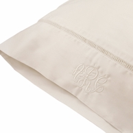 Monogrammed Soft White Standard Pillow Case