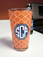 Monogrammed Pint Glasses