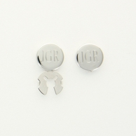 Monogrammed Silver Button Covers