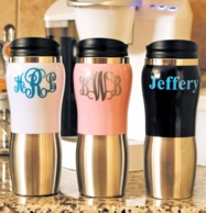 Monogrammed Travel Tumblers