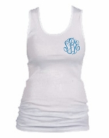 Monogrammed White Tank Top