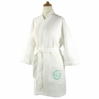 Monogrammed White Waffle Weave Robe