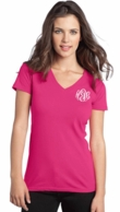 Monogrammed Women's V-Neck T-Shirt